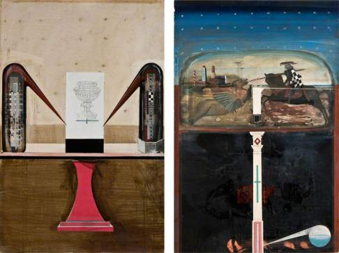 Symmetry (diptych) by Ian Howard Date painted: 1998 Oil on board, 136.4 x 175.6 cm